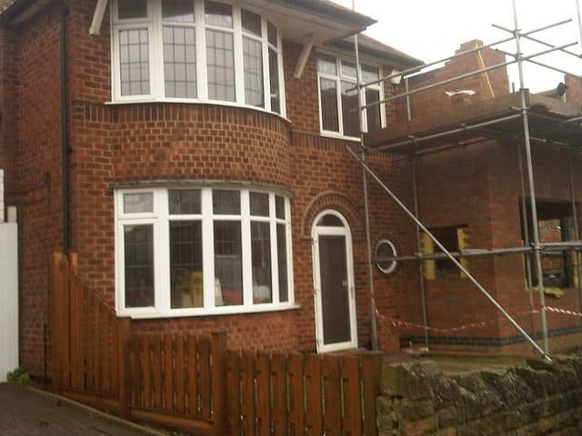 before cladding in brick