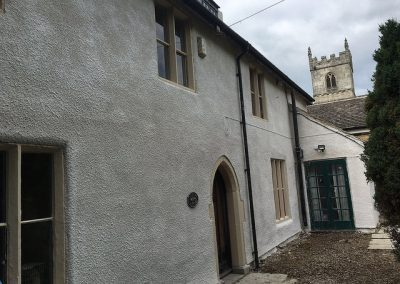 after lime render and limewash