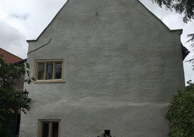 gable lime render-wash
