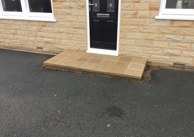 new step smooth sawn stone