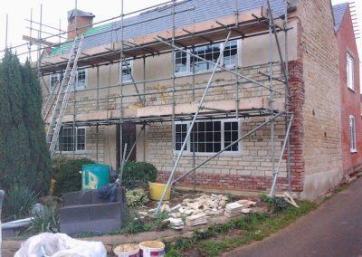 undergoing stone brick cladding