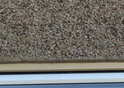 cracks in pebble dash